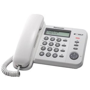 Panasonic KX-TS560FXW - jednolinkový telefon, bílý