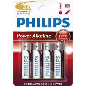 Philips baterie AA PowerLife, alkalická - 4ks