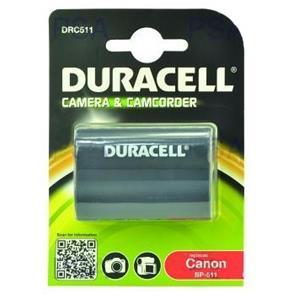 DURACELL Baterie - DRC511 pro Canon DRC511, černá, 1400 mAh, 7.4 V