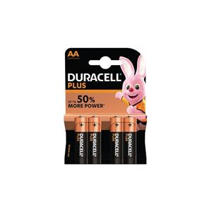 'Duracell MN1500B4 Duracell Plus AA 4 Pack