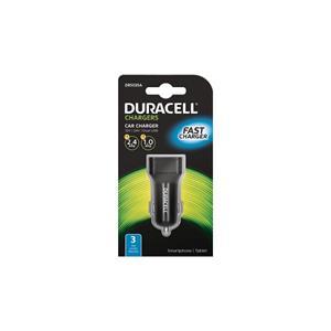 Duracell Dual USB Auto-nabíječka černá