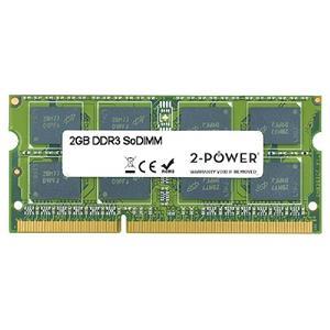 2-Power 2GB PC3-10600S 1333MHz DDR3 CL9 SoDIMM 1Rx8 (DOŽIVOTNÍ ZÁRUKA)
