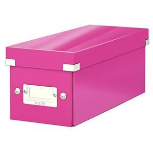 Krabice na CD Leitz Click&Store, růžová