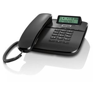 SIEMENS Gigaset DA611 - standardní telefon s displejem, barva černá