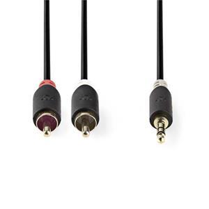 Nedis CABW22200AT20 - Stereofonní Audio Kabel | 3,5mm Zástrčka - 2x RCA Zástrčka | 2 m | Antracit