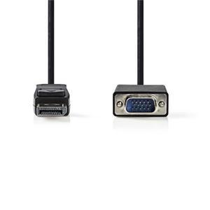 Nedis CCGB37300BK20 - DisplayPort – VGA Kabel   DisplayPort Zástrčka - VGA Zástrčka   2 m   Černá barva