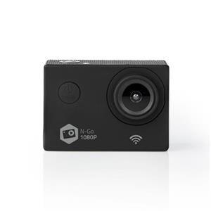 Nedis ACAM21BK - Akční Kamera | Full HD 1080p | Wi-Fi | Vodotěsné Pouzdro