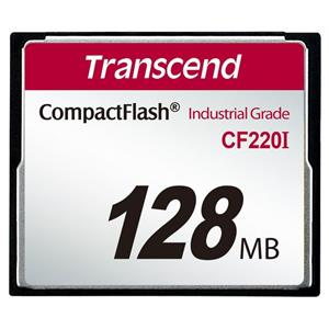 Transcend 128MB INDUSTRIAL TEMP CF220I CF CARD (SLC) Fixed disk and UDMA5