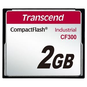 Transcend 2GB INDUSTRIAL CF300 CF CARD, high speed 300X paměťová karta (SLC)