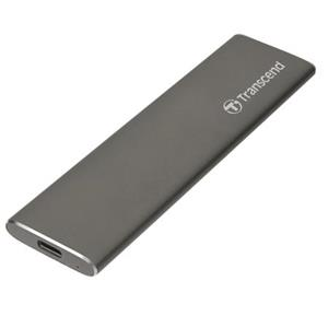 Transcend ESD250C 960GB USB 3.1 Gen2 (USB-C) Externí SSD disk (3D TLC), 520MB/R, 460MB/W, kompaktní rozměry, kov, šedý