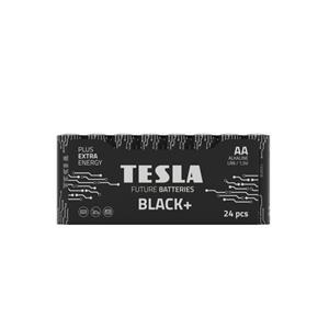 Tesla AA BLACK+ alkalická, 24 ks fólie