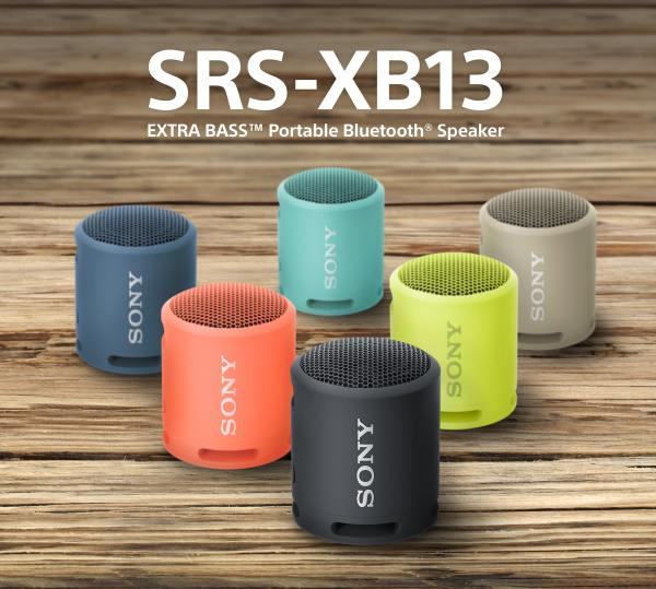 SONY SRS-XB13B Lehký a kompaktní Sony Bluetooth bezdrátový reproduktor, Black