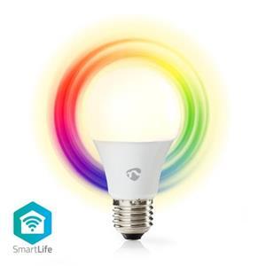 Nedis WIFILC11WTE27 - SmartLife Plnobarevná Žárovka | Wi-Fi | E27 | 470 lm | 6 W | RGB / Teplá Bílá | 2700 K | Android &  iOS | A6