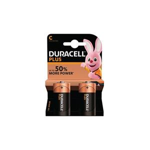 Duracell MN1400B2 Duracell Plus C Size 2 Pack
