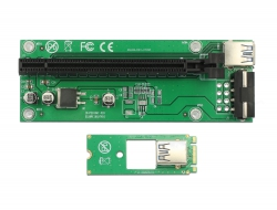 Delock Riser Card M.2 Key B+M > PCI Express x16 s 30 cm USB kabelem