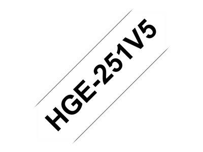 HGE-251, bílá / černá, 24 mm