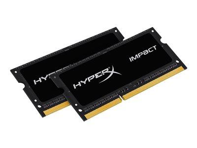 KINGSTON 8GB 1600MHz DDR3L CL9 SODIMM (Kit of 2) 1.35V HyperX Impact Black
