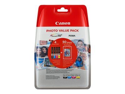 Canon CLI-551 C/M/Y/BK Photo Value Pack